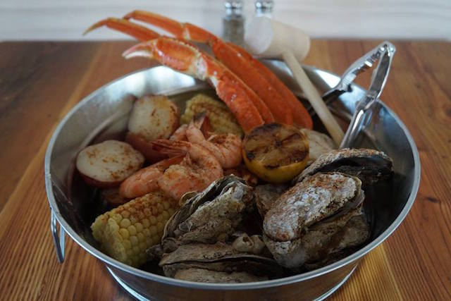 The Smoke on the Water steamer pot will feature a variety of seafood, including shrimp, oysters, and crab legs, based on seasonality.