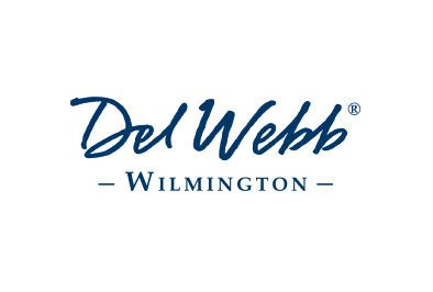 Logo for Del Webb, a homebuilder for 55+ communities in Wilmington, NC